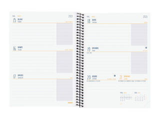 Agenda EscolarFinocam2020 - 2021 A5 Semana CatalàBlau