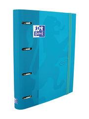 Carpeta OxfordTexdPastel 4 Anillas Con Recambio A4+ Azul