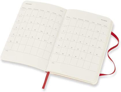 Agenda anual Moleskine Soft Pocket Inglés Semana Rojo