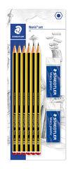 Set de llapis Staedtler HB Noris nº2 + 2 gomes