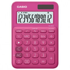 CALCULADORA CASIO MS-20 UC FUCSIA