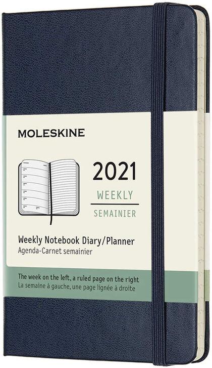 Agenda anual Moleskine Classic Pocket 2021 Inglés Semana Azul