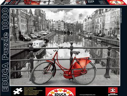 Puzzle Educa Amsterdam blanco y negro