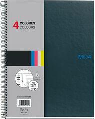 Cuaderno espiral Miquelrius A4 Grafito 5x5 160F