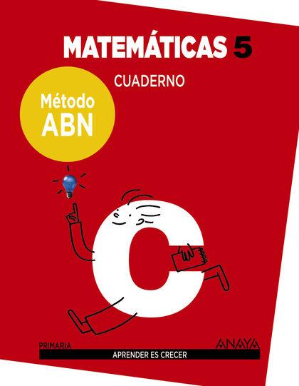 ANE E5 Matemáticas ABN Anaya Quaderns 9788469829479