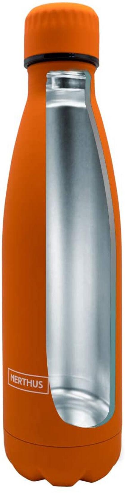 Botella Nerthus Doble capa 500 ml Naranja