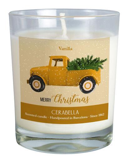 Vela Navidad Vainilla Amarillo