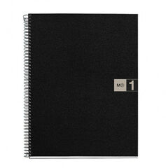 Cuaderno espiral Miquelrius A4 5x5 80F Gris