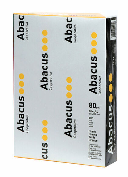 Papel ABACUS A4 80 gr. 500 hojas