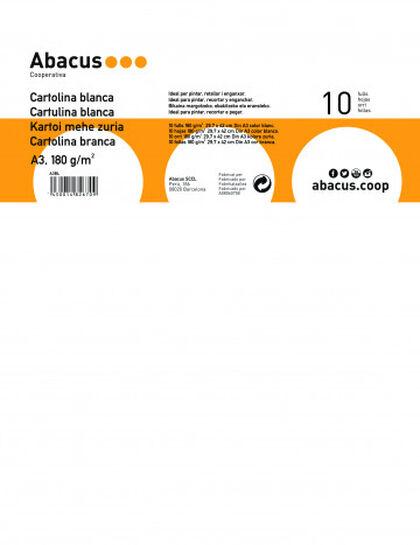Cartulina Abacus A3 Blanca 10 hojas