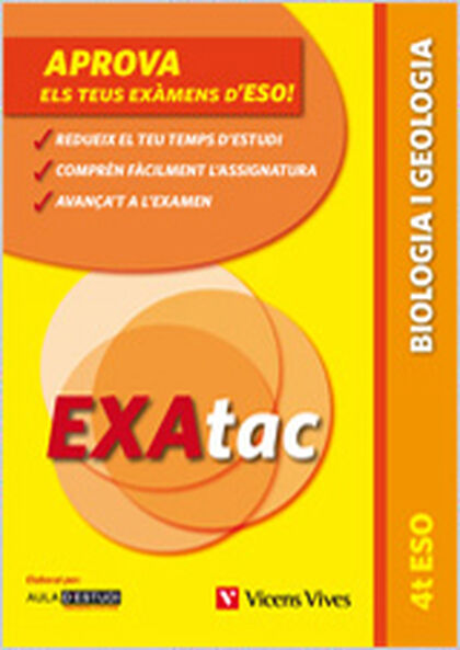 EXATAC BIOLOGIA I GEOLOGIA 4t ESO Vicens Vives- 9788468209722