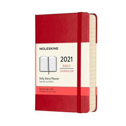 Agenda anual Moleskine Classic Large 2021 Inglés Día Rojo