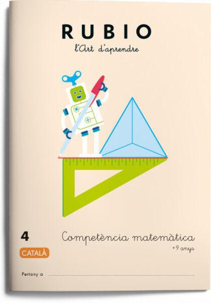 Competència matemàtica 4 4t Primària Rubio 9788417427030