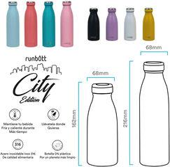 Botella Termo Runbott City Lila 350 ml