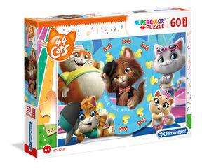 Puzzle suelo Maxi 44 Gatos (60 piezas)