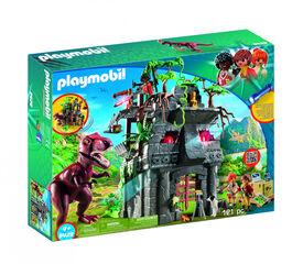 Playmobil Explorers Campament base amb t-rex explorers