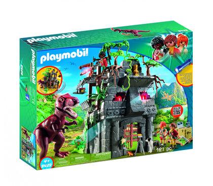 Playmobil Explorers Campamento base con t-rex explorers