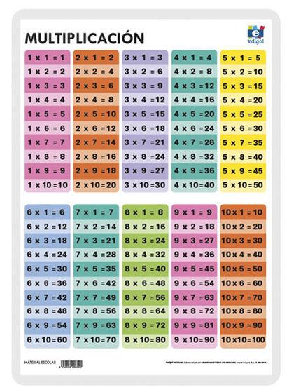 Edigol e 30x42/multiplicación 1 tabla