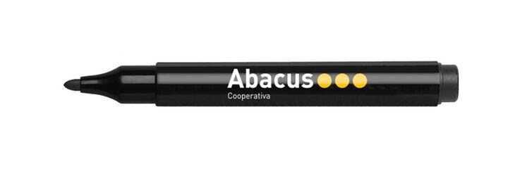 Marcador de pizarra  Blanca Abacus Negro