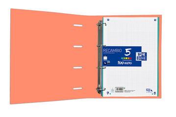 Carpeta Oxford 4 Anelles Texd Recanvi 5 A4+ 100F Taronja