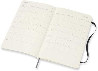 Agenda anual Moleskine Horizontal Soft Large 2021 Inglés Semana Negro