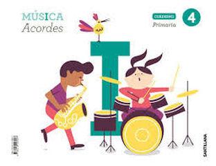 4PRI CUADERNO MUSICA ED19 Santillana Text 9788414106907