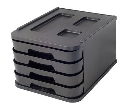 Cómoda Abacus 4 cajones 5cm Negra