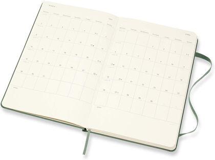 Agenda Moleskine  Cuaderno Semana Vistal L Semana Vista Inglés Verde (13x21 cm)