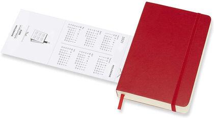 Agenda anual Moleskine Soft Pocket 2021 Inglés Día Rojo
