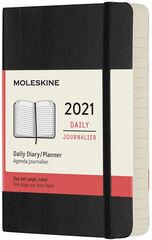 Agenda anual Moleskine Soft Pocket 2021 Inglés Día Negro