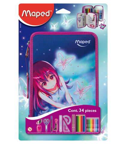 Plumier Maped Butterfly Doble 34pc