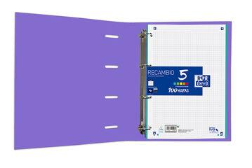 Carpeta Oxford Europeanbinder Classic 4 Anelles Amb Recanvi A4+ Lila