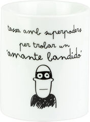 Taza Mr.Wonderful Amb superpoders per trobar un Amante Bandido 300 ml
