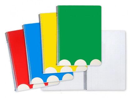 Libreta espiral Abacus A4 Milimetrado 50 hlas Surtido de Colores