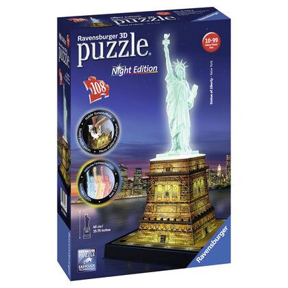 Puzzle 3D Ravensburger Estatua de la libertad Noche