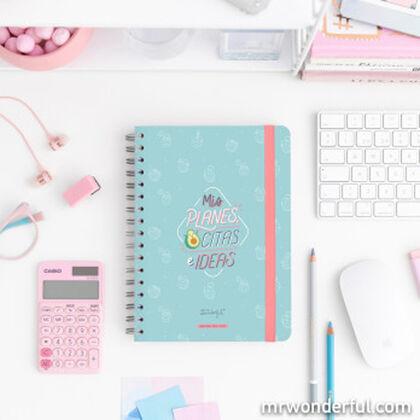 Agenda Escolar Mr.Wonderful Planes, citas e ideas 2020 - 2021 A5 Semana