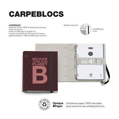 Carpebloc Ecoalf A4 A/Rec Burdeus