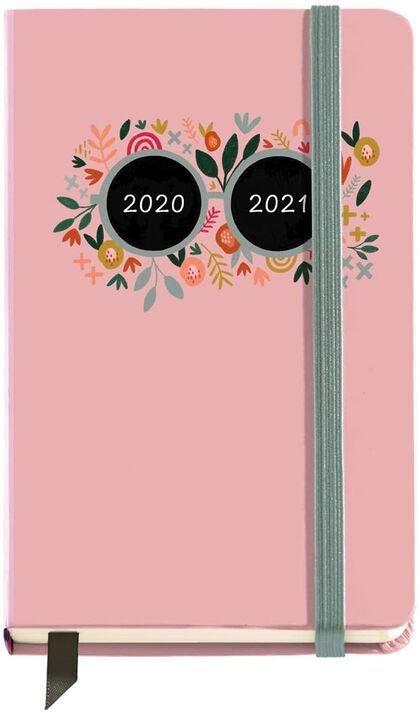 Agenda Escolar Miquelrius Activ 2020 - 2021 Pink Flower  Semana Catalán