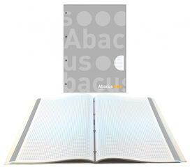 NotebookAbacusEncuadernado A4 70gr5x5Gris