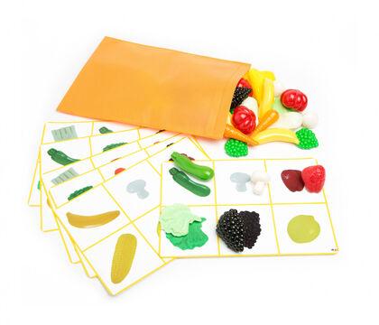 Juego sensorial Lap Frutas y vegetales