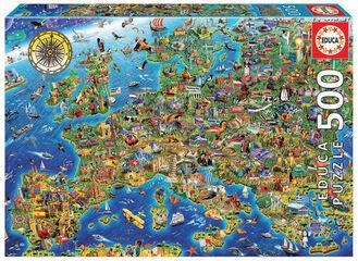 Puzzle Educa Mapa europa