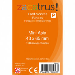 Funda cartas Zacatrus Mini Asia 100U