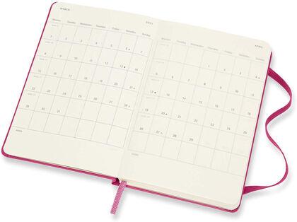 Agenda Moleskine 2020 - 2021 18 meses Pocket Semana Vista Inglés Rosa (9x14 cm)