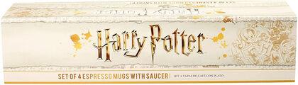 Set 4 mini tazas Emblemas Harry Potter