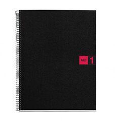Cuaderno espiral Miquelrius A4 5x5 80F Rojo
