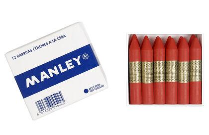 Cera grasa Manley Azul Clar 12 unidades