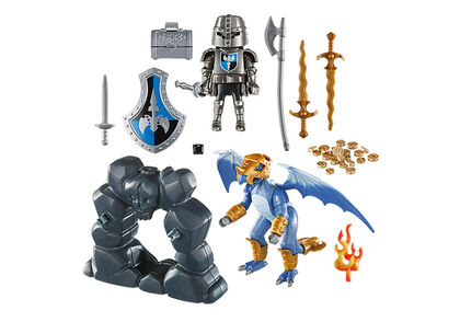 Playmobil Knights Maletín Caballero con dragón