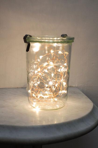 Guirnalda Luminosa Kikkerland 20 luces Cobre