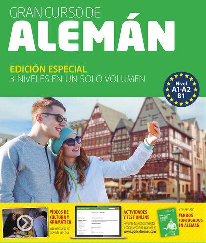 GRAN CURSO PONS ALEMÁN . 4 LIBROS+6 CD+DVD Pons 9788416782253
