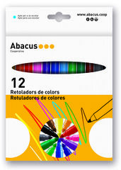 Estuche de rotuladoresAbacusGruesos 12 colores